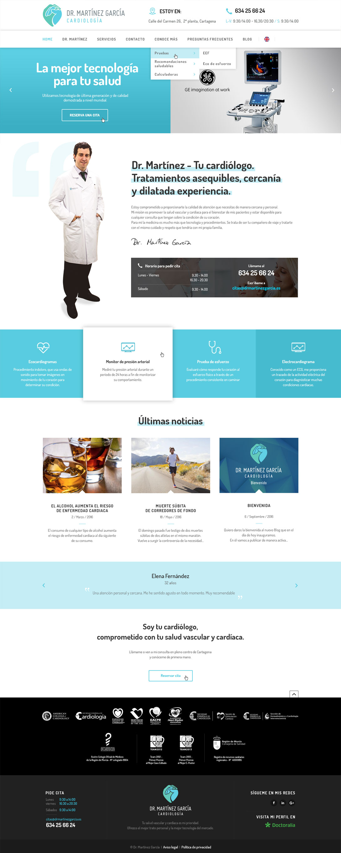 Diseño web a medida Dr Martinez Cardiologia