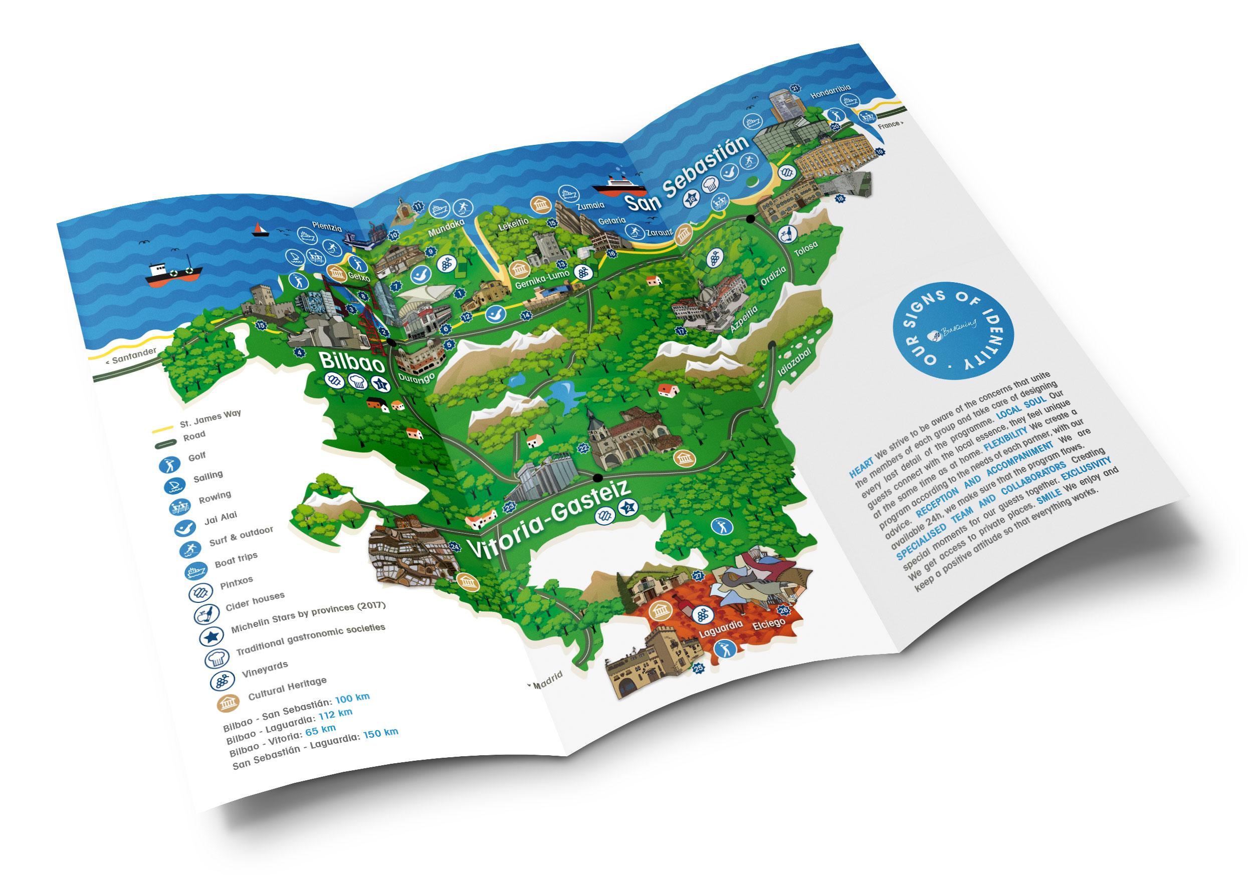 Diseño & Ilustración – Mapa turístico Go Basquing