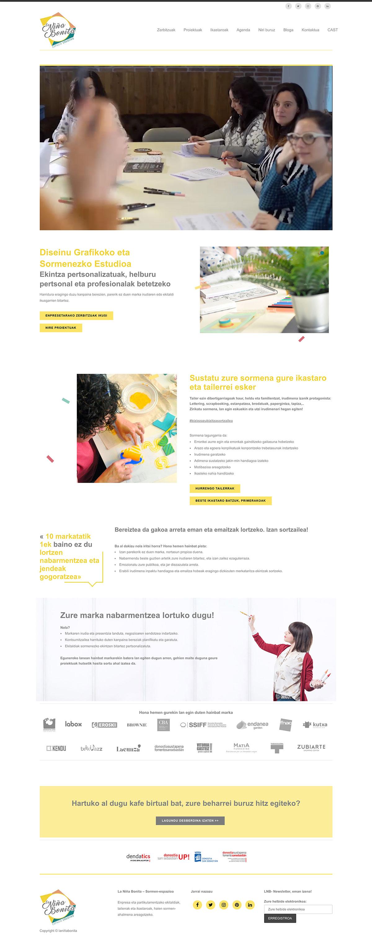 Diseño web La niña bonita