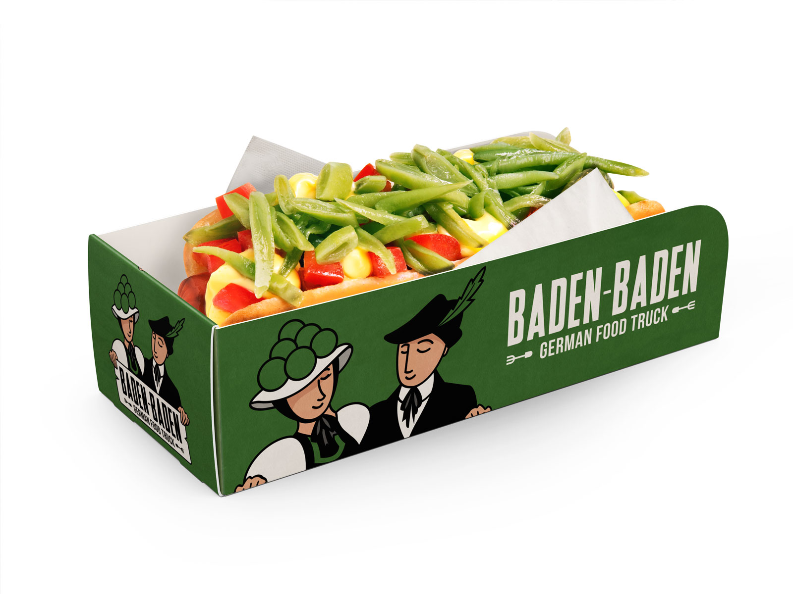 Diseño Packaging Baden Baden Food Truck