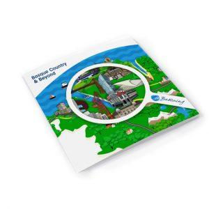 Diseño infografía mapa turístico Go Basquing