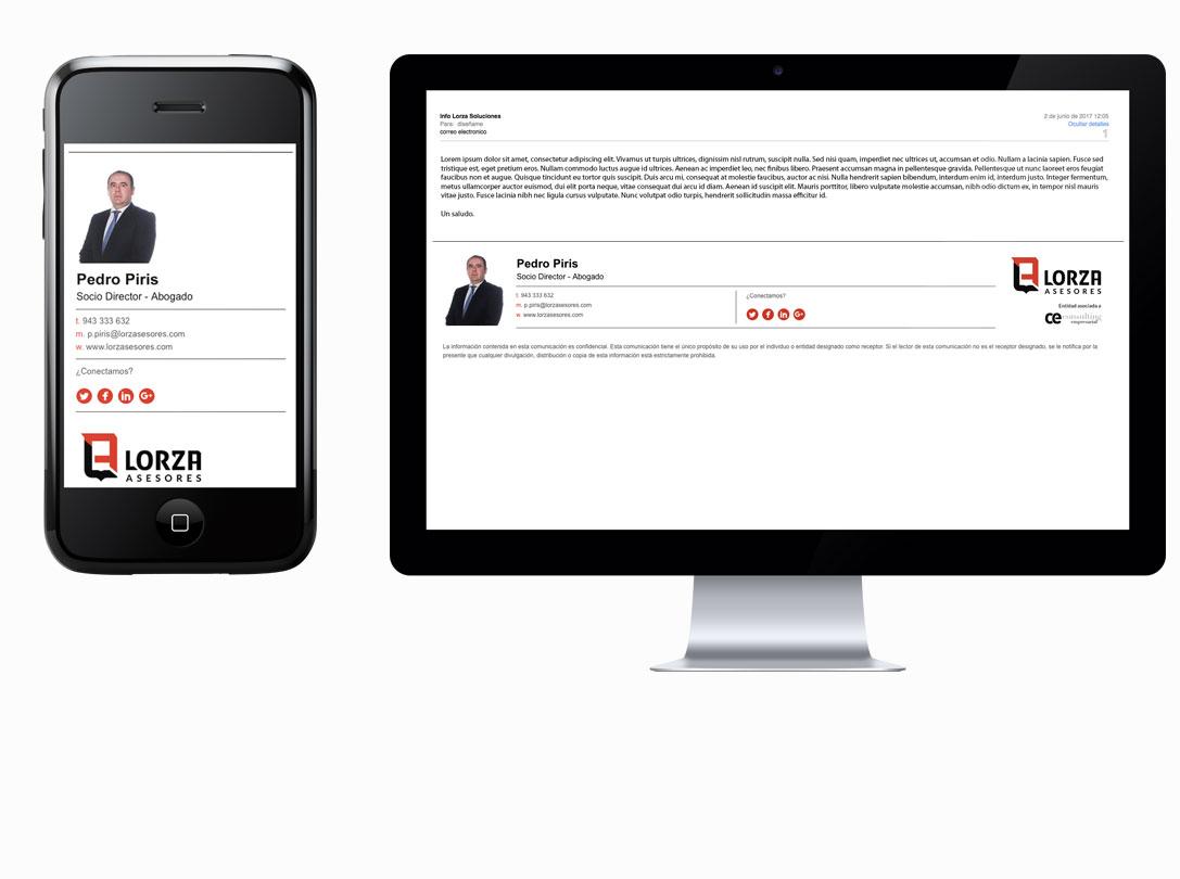 Lorza Asesores - Branding, papelería, diseño de fachada e interiores 4