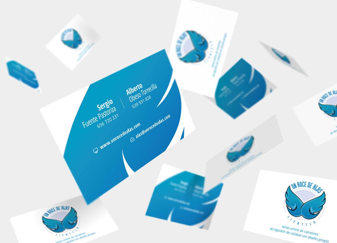 Diseño tarjetas Un roce de alas