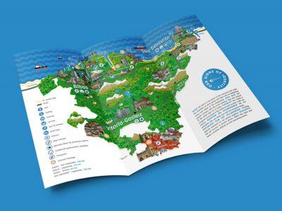 Infografía/mapa turístico País Vasco