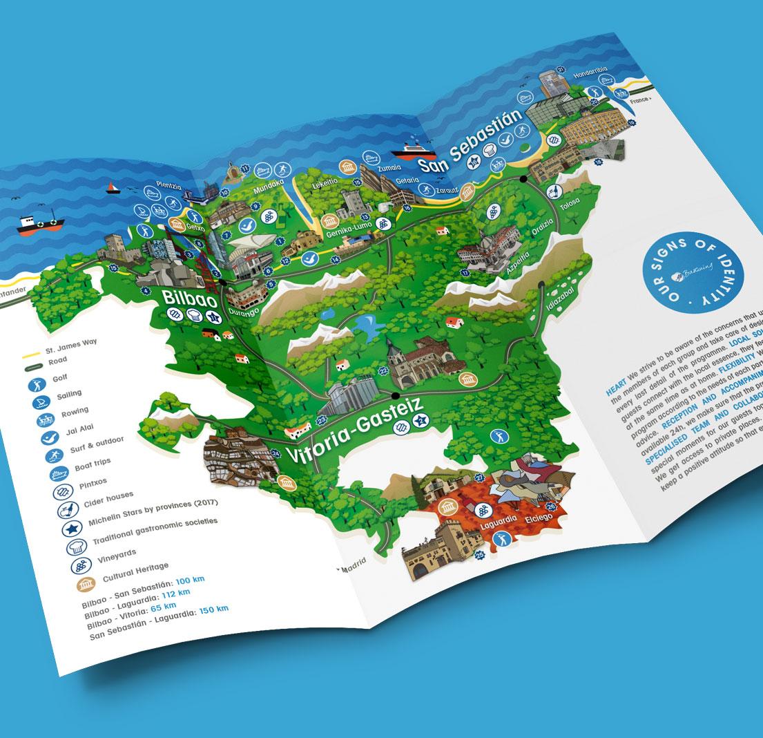Diseno Mapa Turistico Pais Vasco Disename Estudio De Diseno