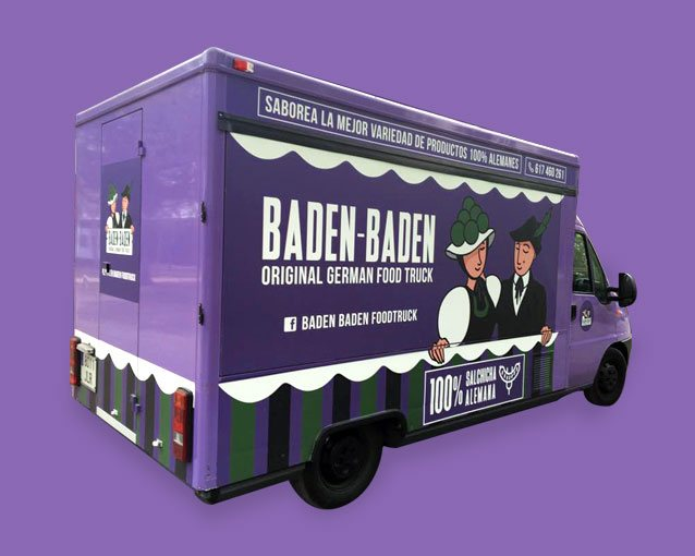 Branding, Packaging, rotulación Baden Baden Food Truck