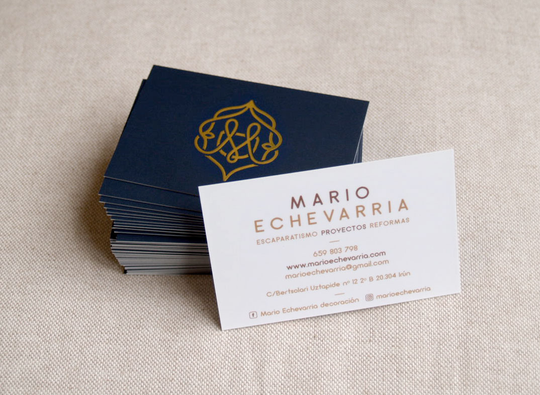 Diseño tarjeta visita Mario Echevarria