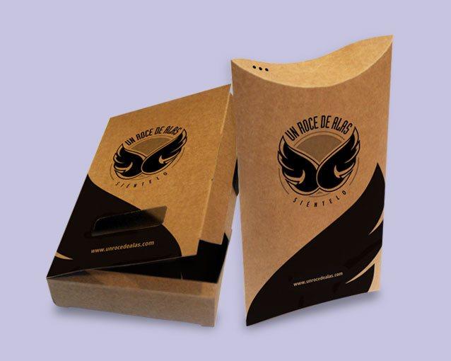 diseño packaging Un roce de alas