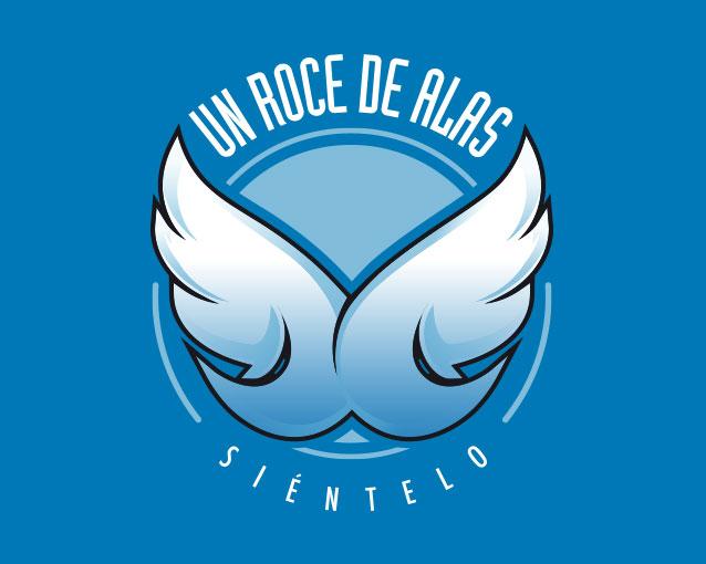 Diseño logotipo Un roce de alas