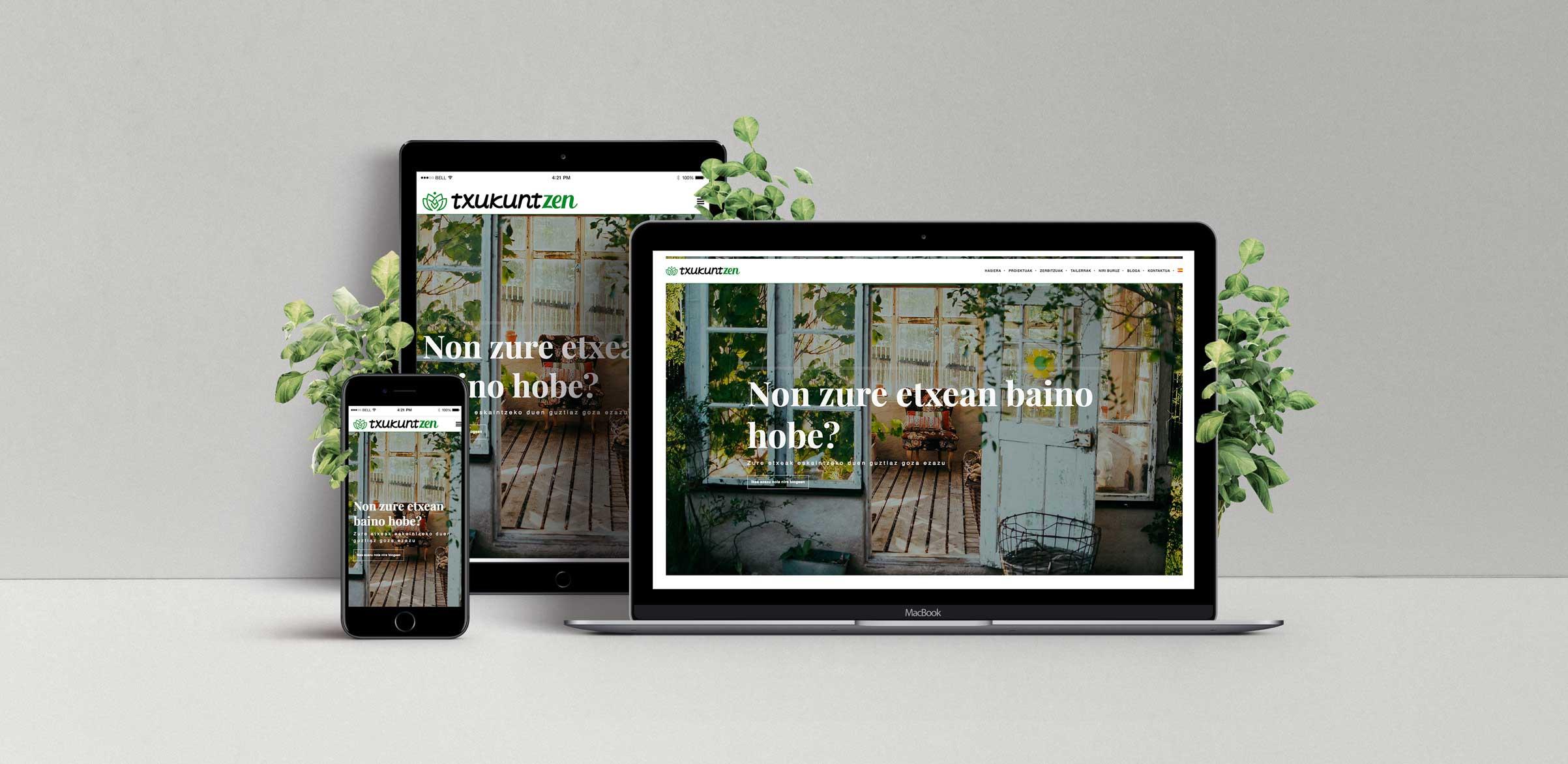 Txukuntzen / Organizadora de Espacios – Diseño web autogestionable