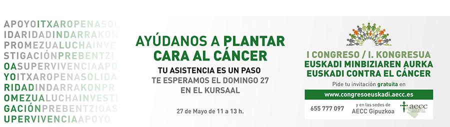 Faldón congreso Euskadi contra el cáncer