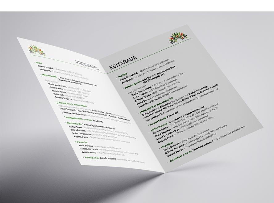 Diseño programa congreso euskadi contra el cancer