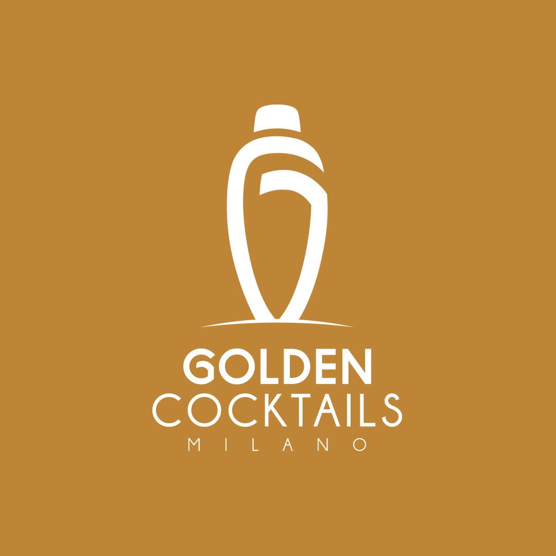Golden Cocktails Milano Branding