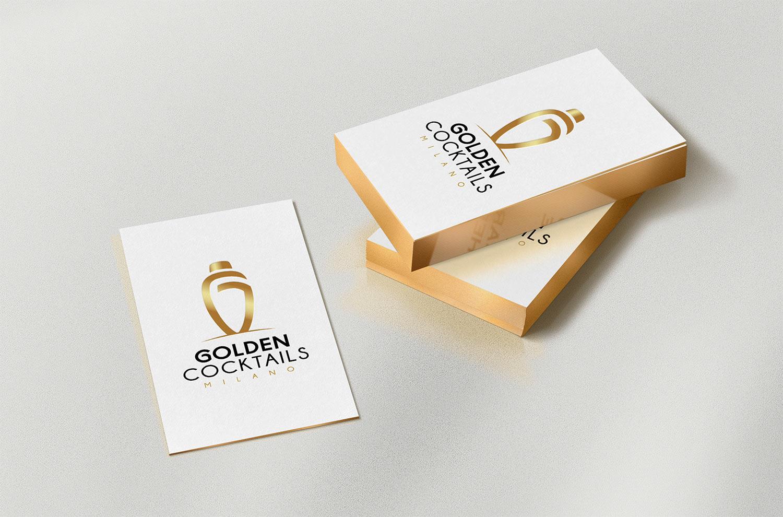 Golden Cocktails Milano - Branding 2