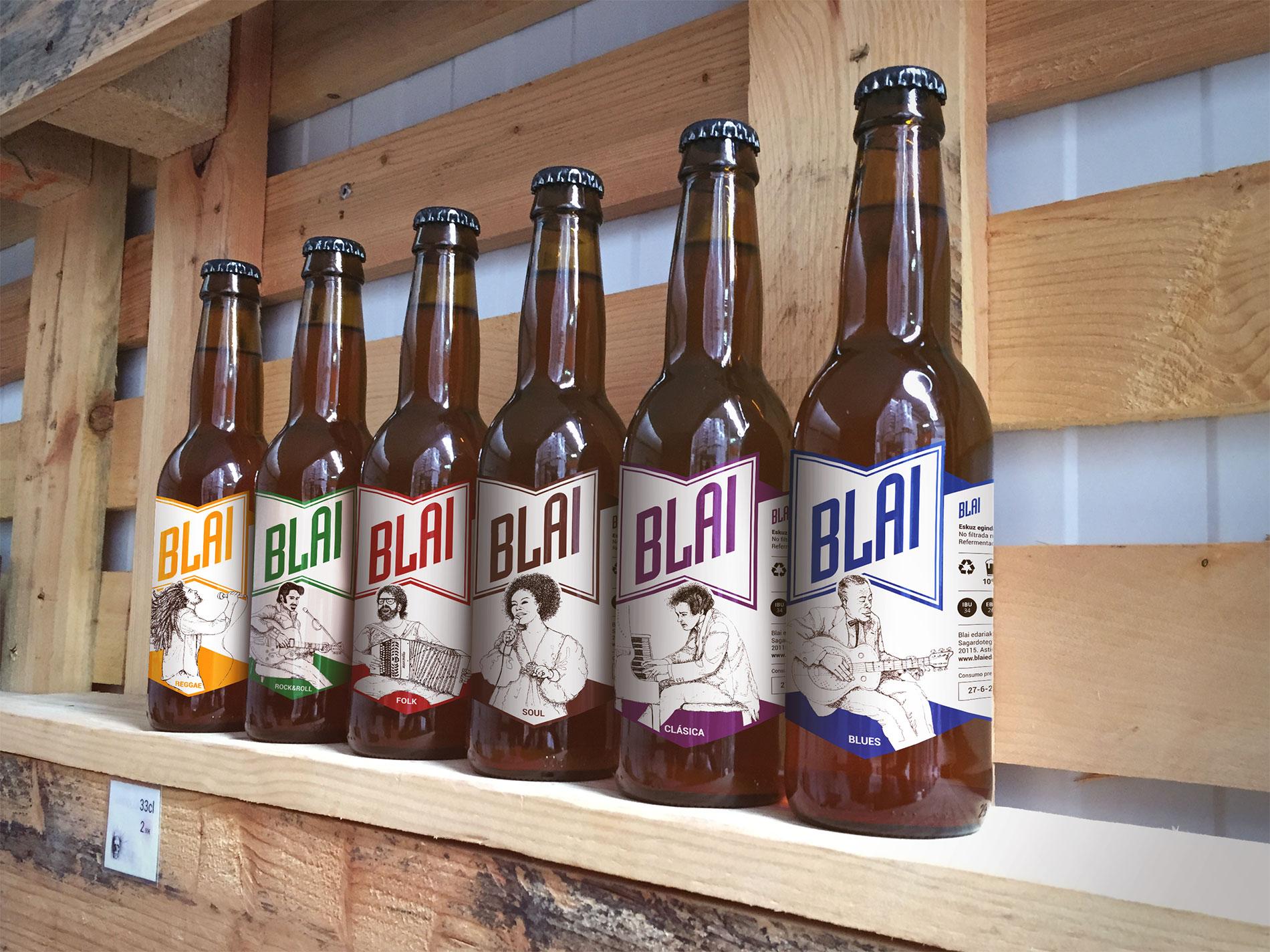 Blai / Cervezas artesanas - Marca, etiqueta, ilustración, web 1