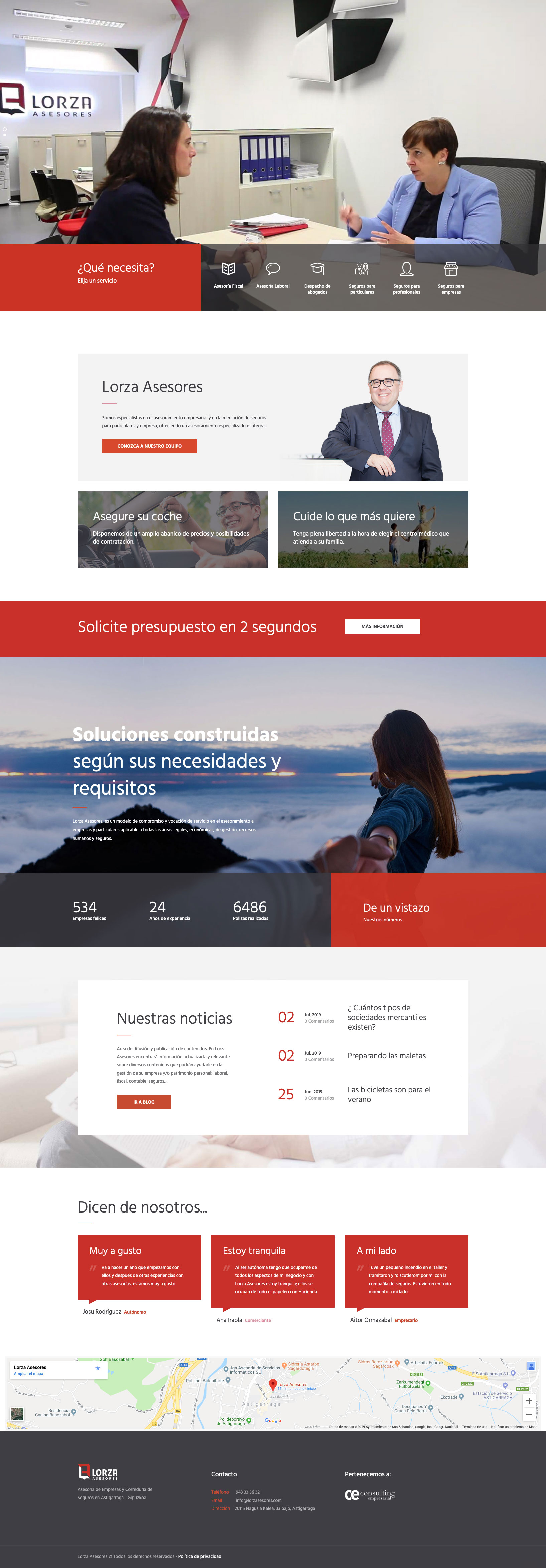 Lorza Asesores - Diseño Web 2