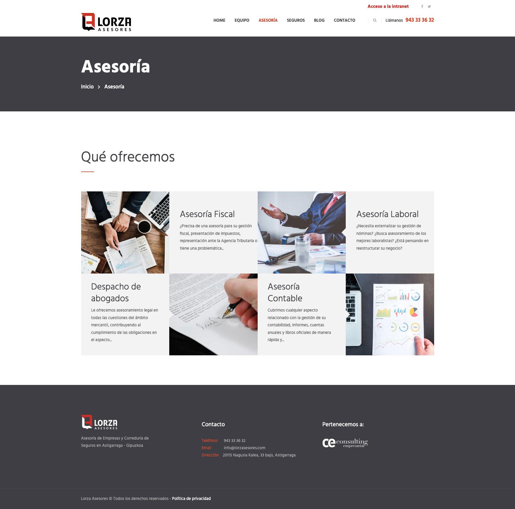 Lorza Asesores - Diseño Web 4