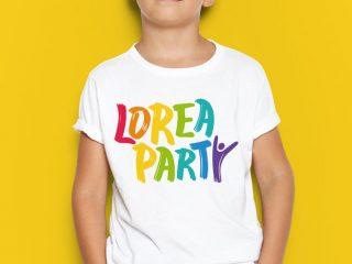 Lorea Party – Diseño de marca, rotulación
