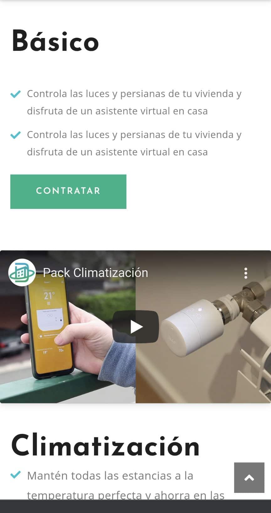 Donomotics Diseño Web móvil